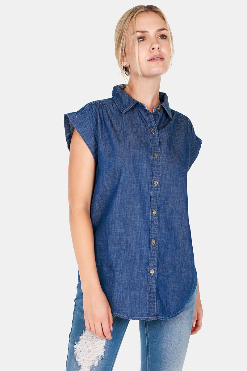 e07931bb80574 Denim Shirt - Shirts   Blouses - Shop by Category - Ladies