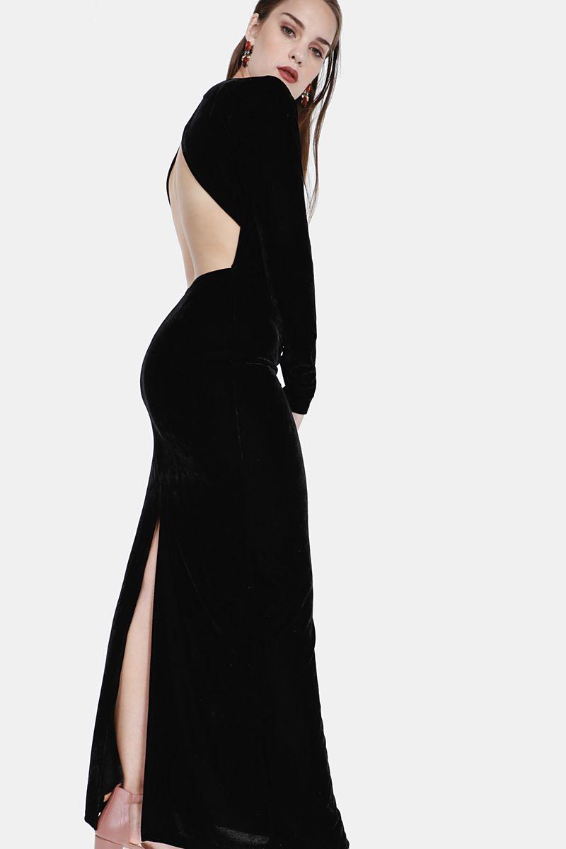 7447da6240 Velour Maxi Dress - Dresses - Shop by Category - Ladies