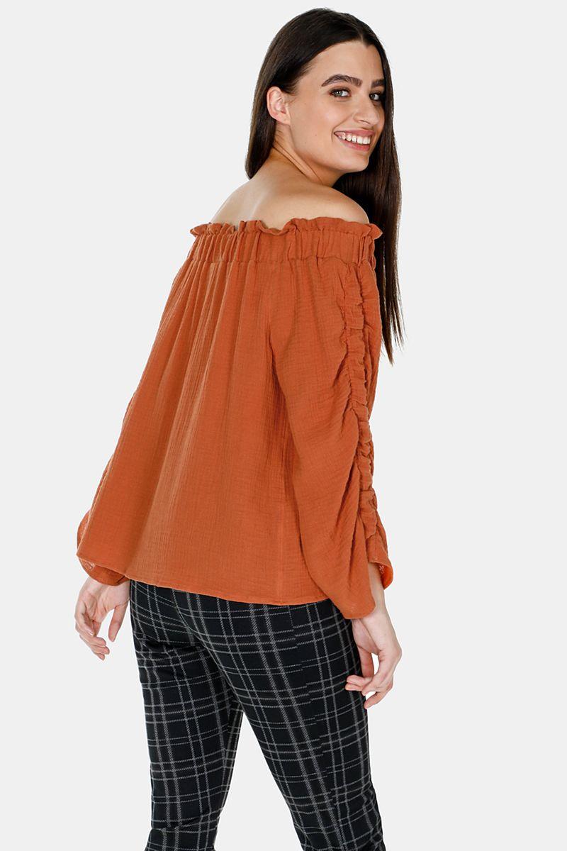 ed6ba3c4d09f7 Ruched Off Shoulder Top - OAKRIDGE - Shop By Brand - Ladies