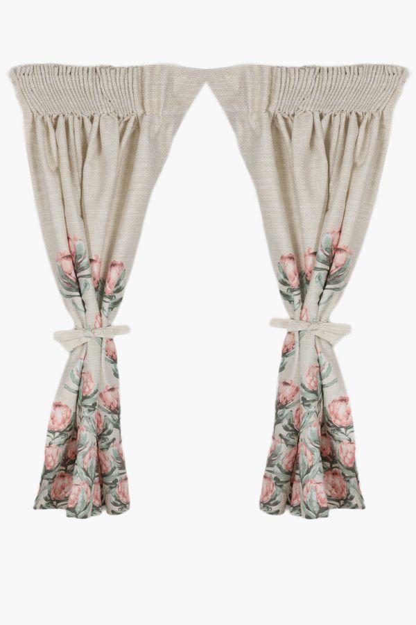 2 Pack Protea Cafe Curtain 110x120cm Curtains Blinds Shop L