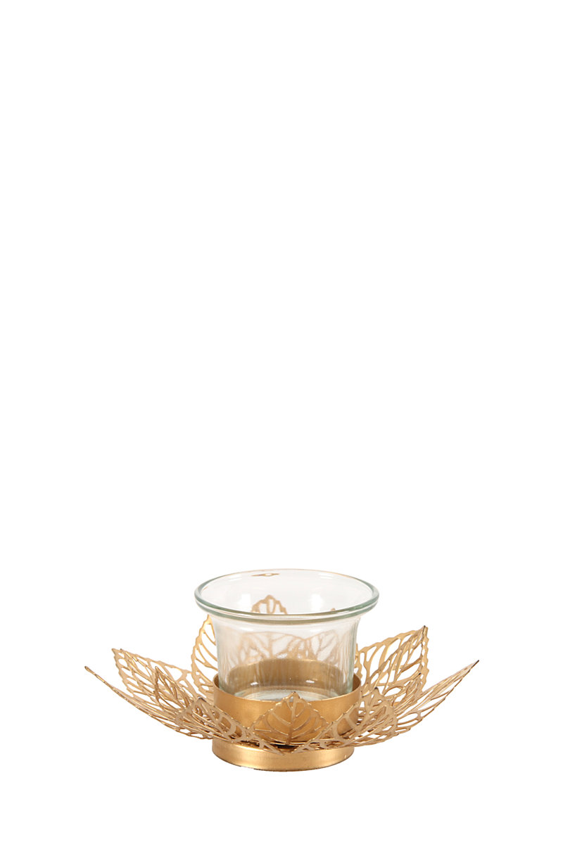 Punched metal lotus tea light holder candles candle - Punched metal candle holder ...