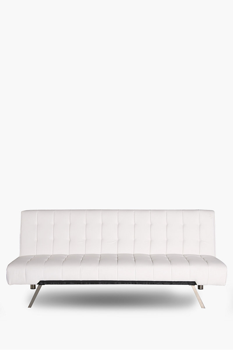 Square quilted pu sleeper couch shop new in furniture for Small square couch