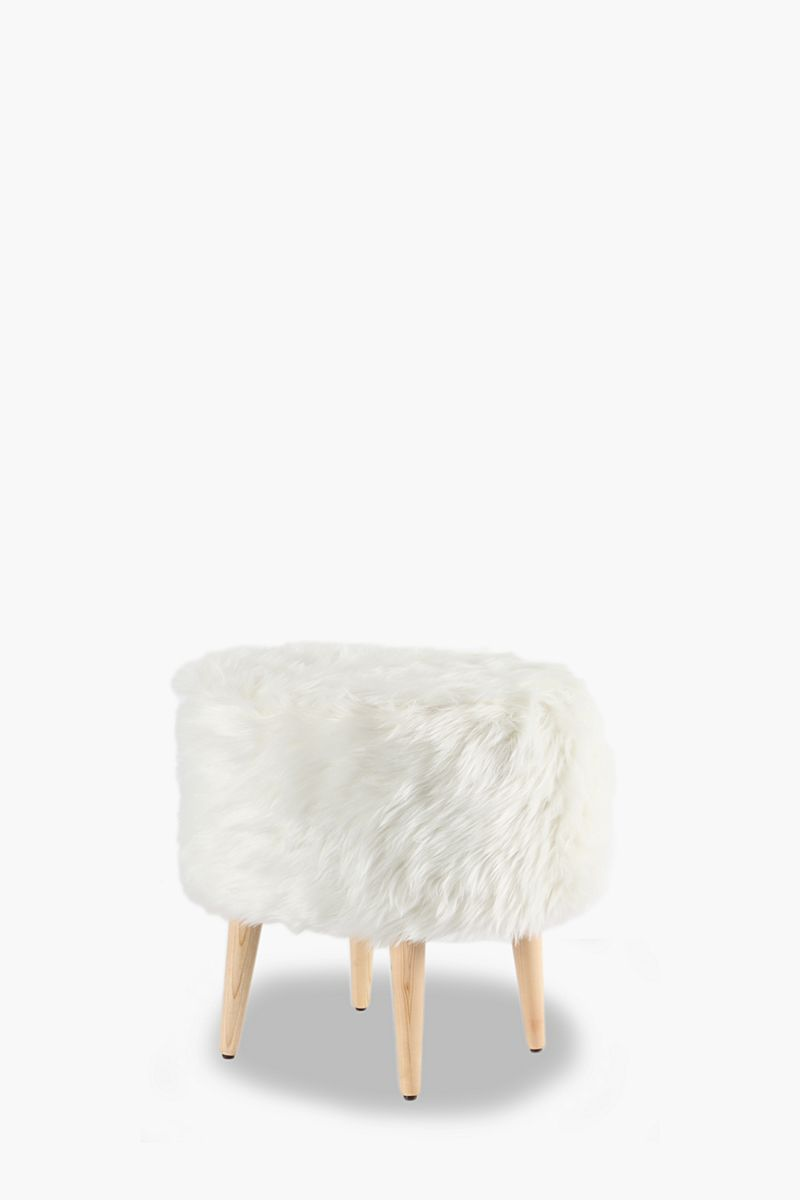 Faux Fur Stool - Ottomans & Cubes - Shop Living Room - Furniture -