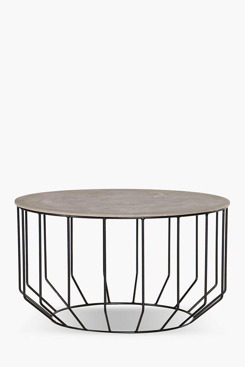 Wire metal coffee table coffee side tables shop - Metal side tables for living room ...