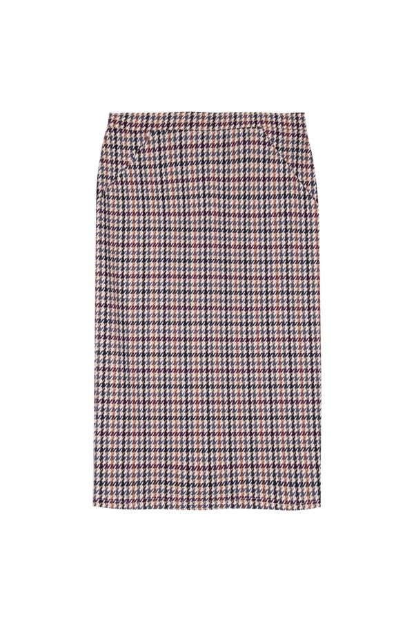 HOUNDSTOOTH PONTE SKIRT