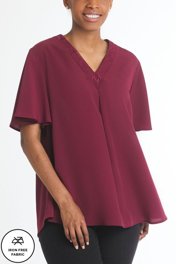 EMBROIDERED TOP - Iron Free