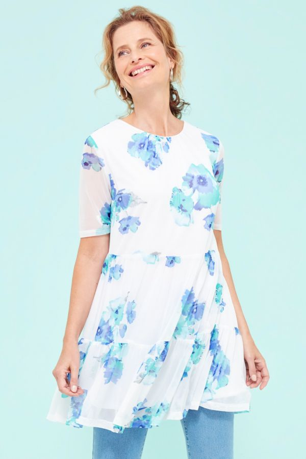 FLORAL TIERED TUNIC