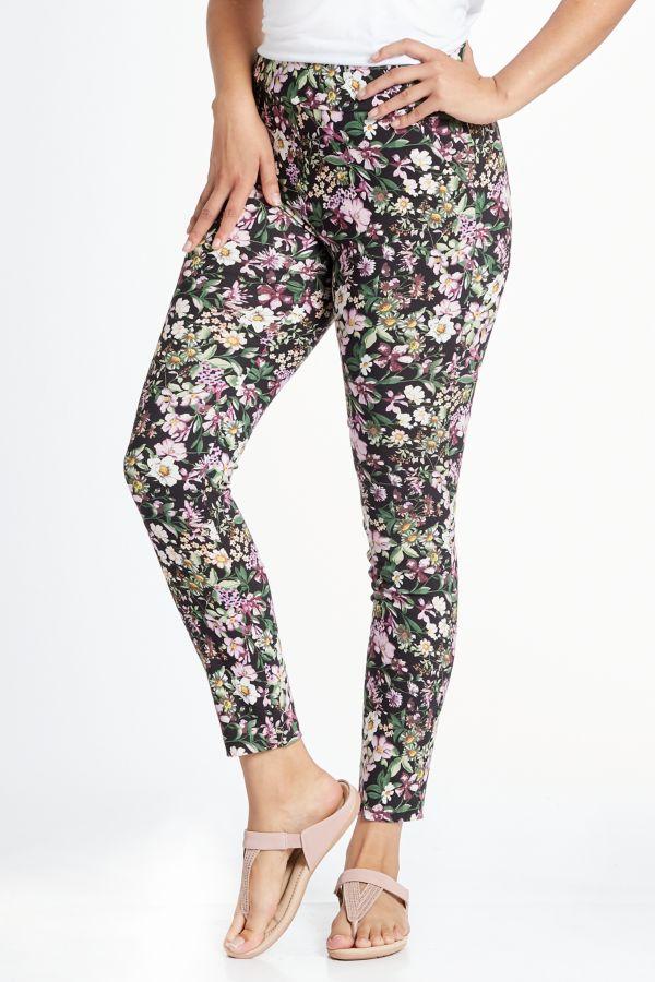 FLORAL BENGALINE PANTS