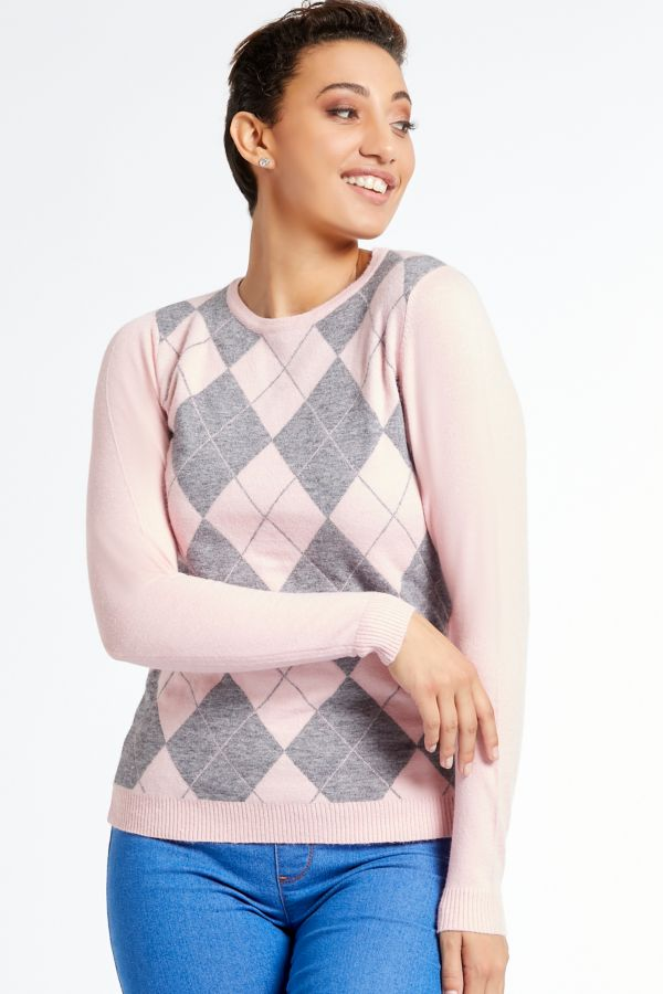 ARGYLE KNITTED PULLOVER