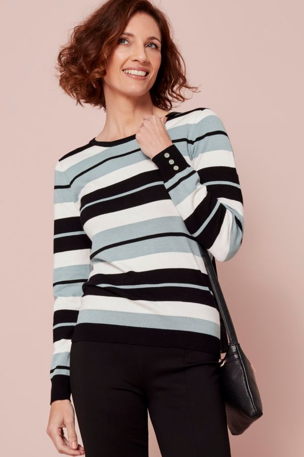 STRIPE KNITTED PULLOVER
