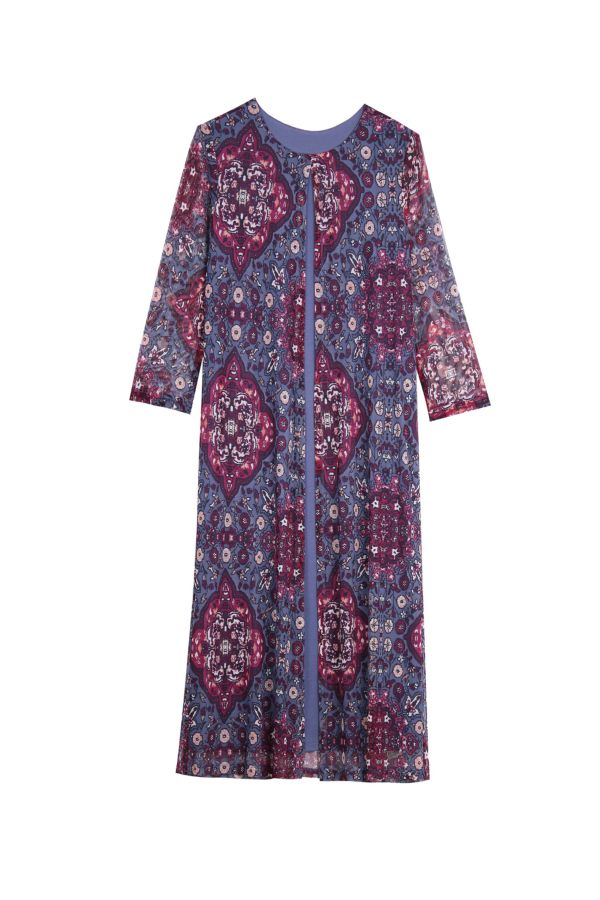 PRINTED LAYERED DRESS