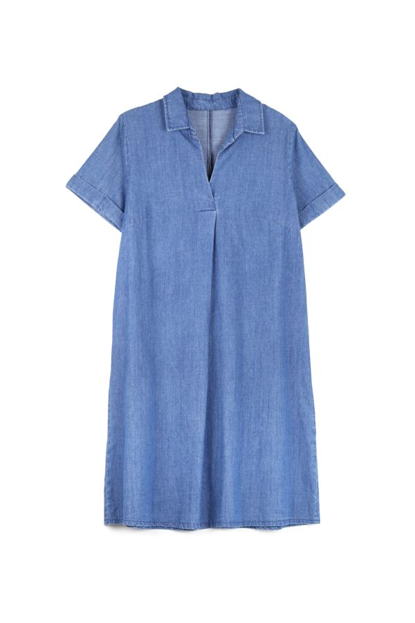 DENIM ALINE DRESS