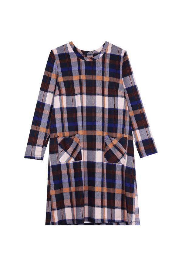 CHECK SHIFT DRESS