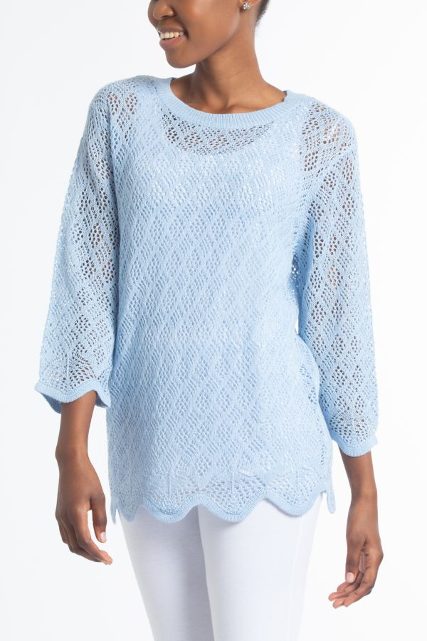SCALLOPED PULLOVER