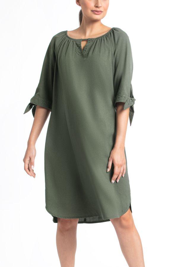 LINEN PEASANT DRESS