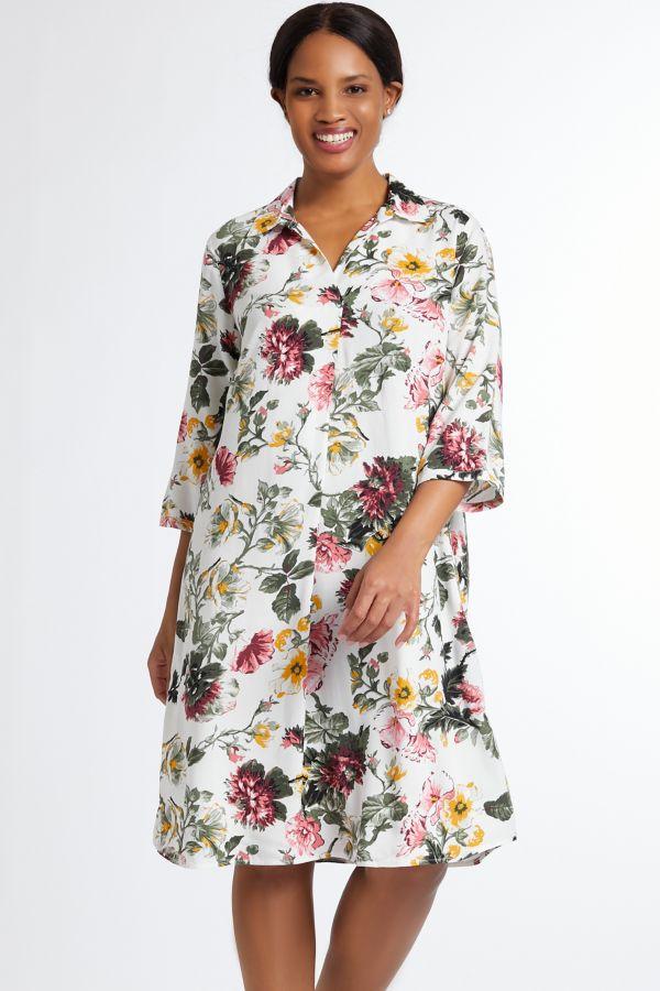 FLORAL HENLEY DRESS