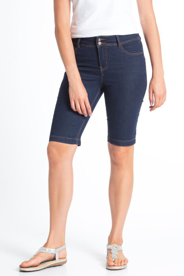 PULL ON DENIM BERMUDA SHORTS