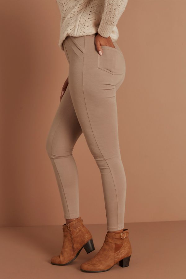 PONTE LEGGINGS - Stone