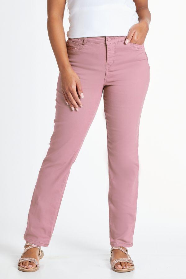 WONDERFIT STRAIGHT LEG DENIM JEANS - Pink