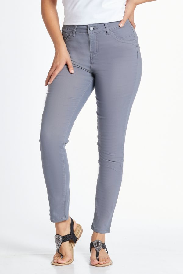 WONDERFIT SLIM LEG DENIM JEANS - Grey