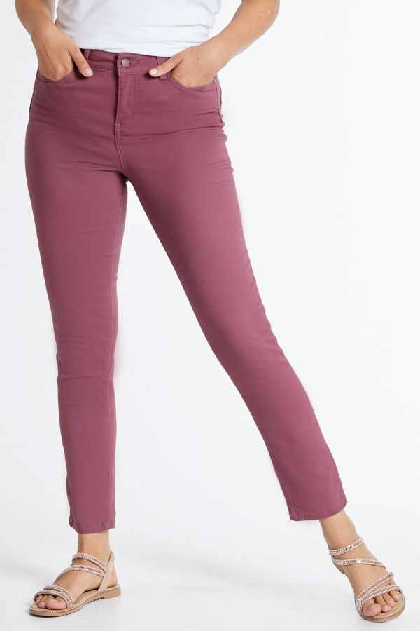 WONDERFIT SLIM LEG DENIM JEANS - Rose