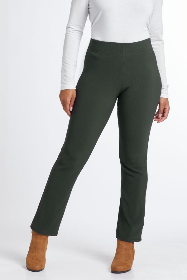 STRAIGHT LEG RIBBED LEGGINGS