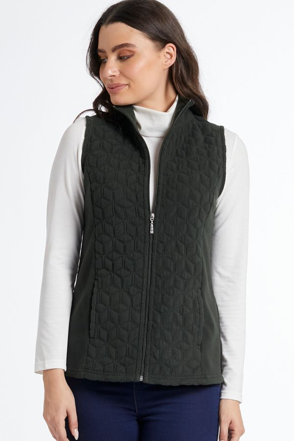 POLAR FLEECE QUILTED GILET