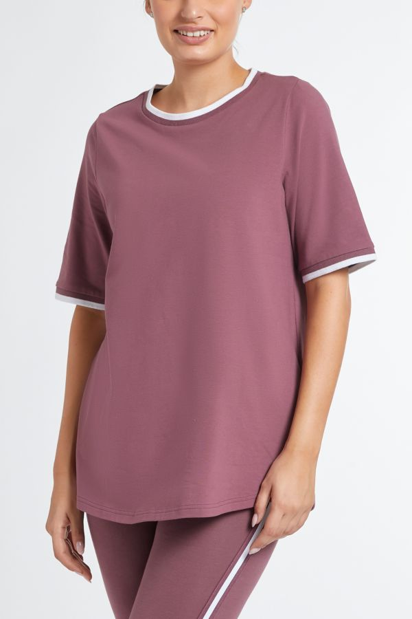 ATHLEISURE CONTRAST T-SHIRT