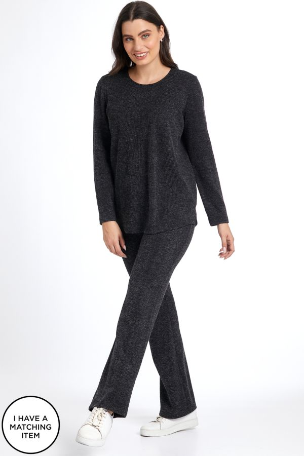 TEXTURED KNIT PANTS