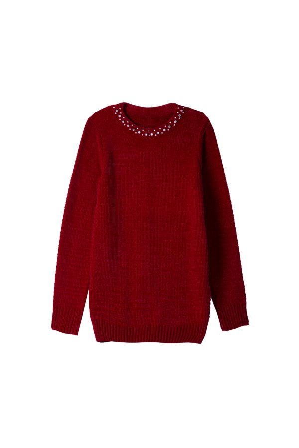 EMBELLISHED KNITTED PULLOVER