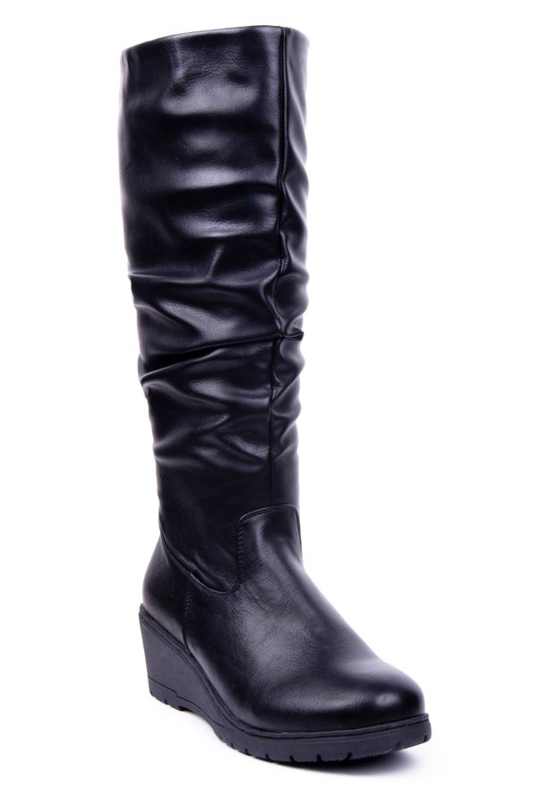 ROUCHED WEDGE LONG BOOT