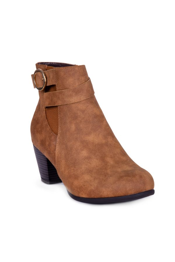 BUCKLE TRIM ANKLE BOOT
