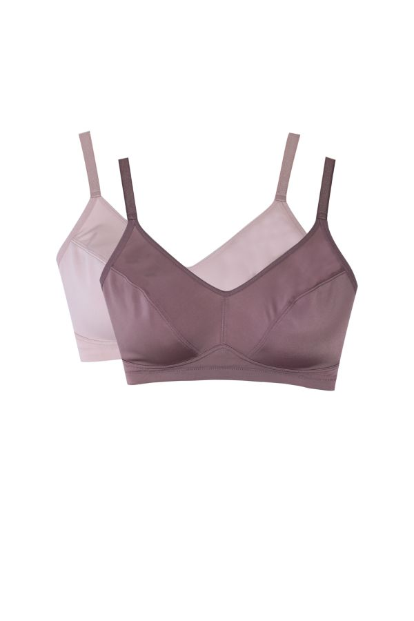 2 PACK NON-WIRED BRAS - D CUP
