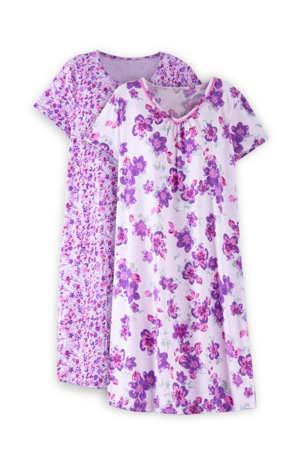 2 PACK FLORAL SLEEP SHIRT