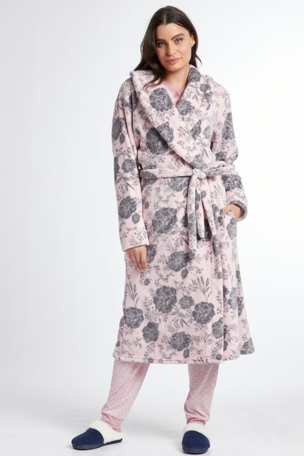 FLORAL FLEECE GOWN