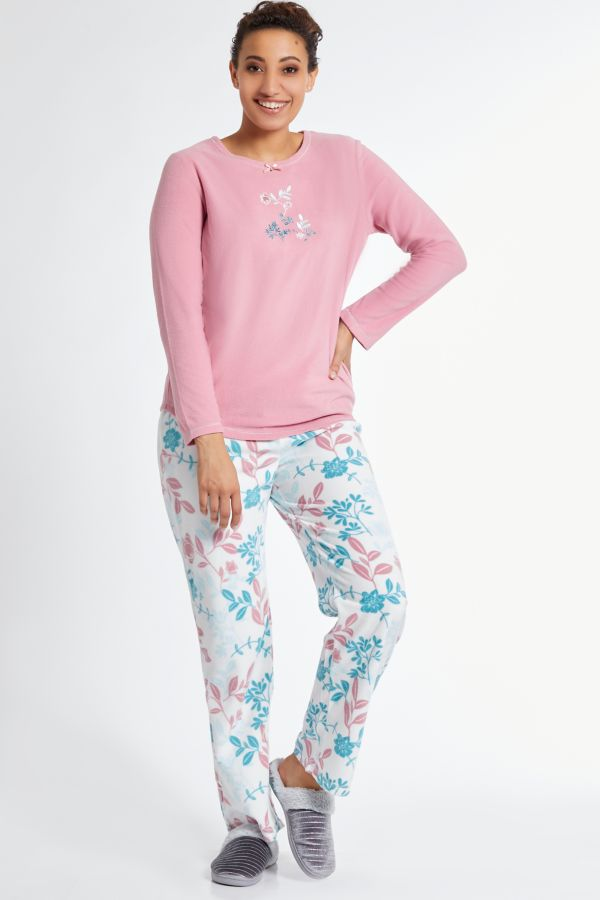 FLEECE FLORAL SLEEP SET