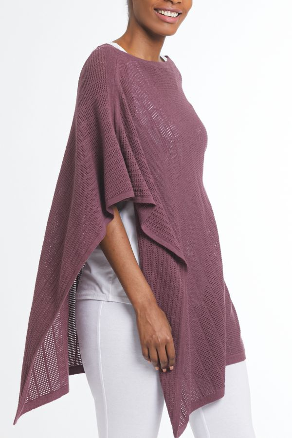LIGHTWEIGHT KNIT PONCHO